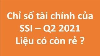 Chỉ số tài chính của SSI - Q2 2021 - Liệu còn hấp dẫn để đầu tư ?