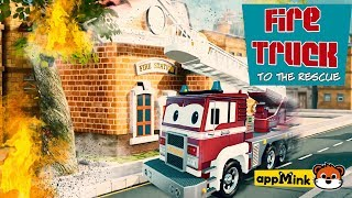 #appMink Rescue & Action Cartoons with Fire truck, Police Car, Monster truck and Garbage truck