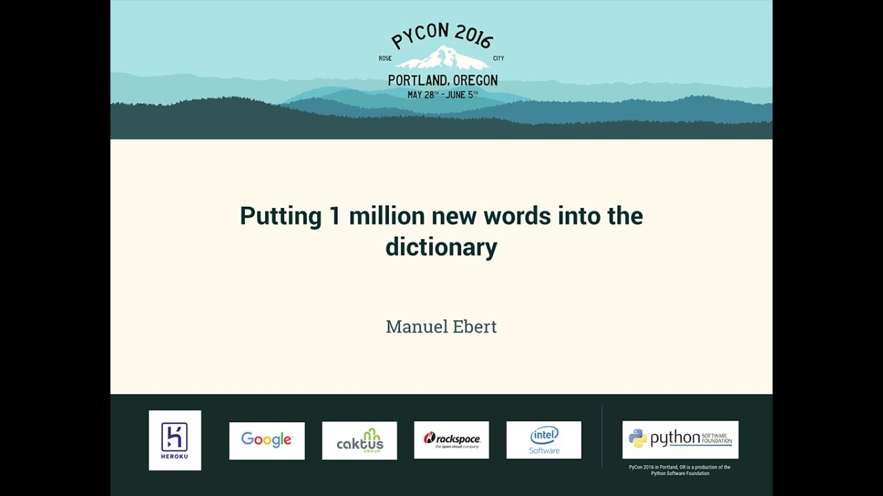 Image from Putting 1 million new words into the dictionary