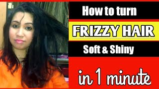 Testing the 5 Minute Craft's beauty hack | Frizzy and dry hair remedy | Mixed bag