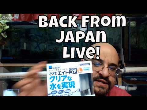 Back from Japan! Let's talk Japanese Fish shops! Ask me questions about my Japanese Fish store tours