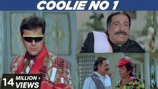 Coolie No. 1 | All Comedy Scenes | Govinda | Karishma Kapoor | Pooja Films
