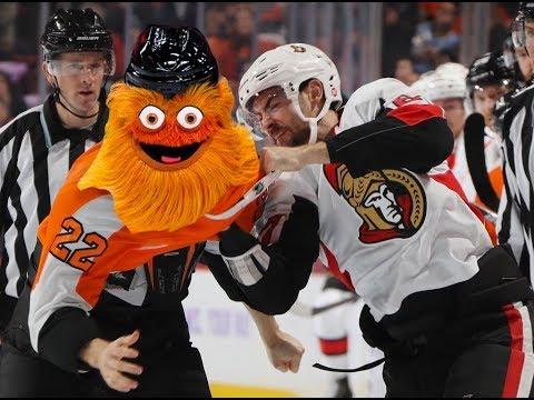 Game 25-Gritty-Ottawa Senators vs Philadelphia Flyers 2018-19