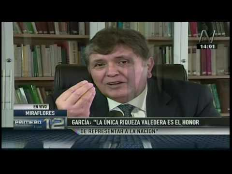 Entrevista a Alan García (Canal N)