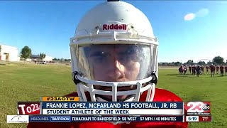 Male Athlete of the Week: Frankie Lopez