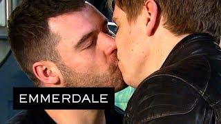Emmerdale Robert and Aaron Put Their Wedding Rings Back