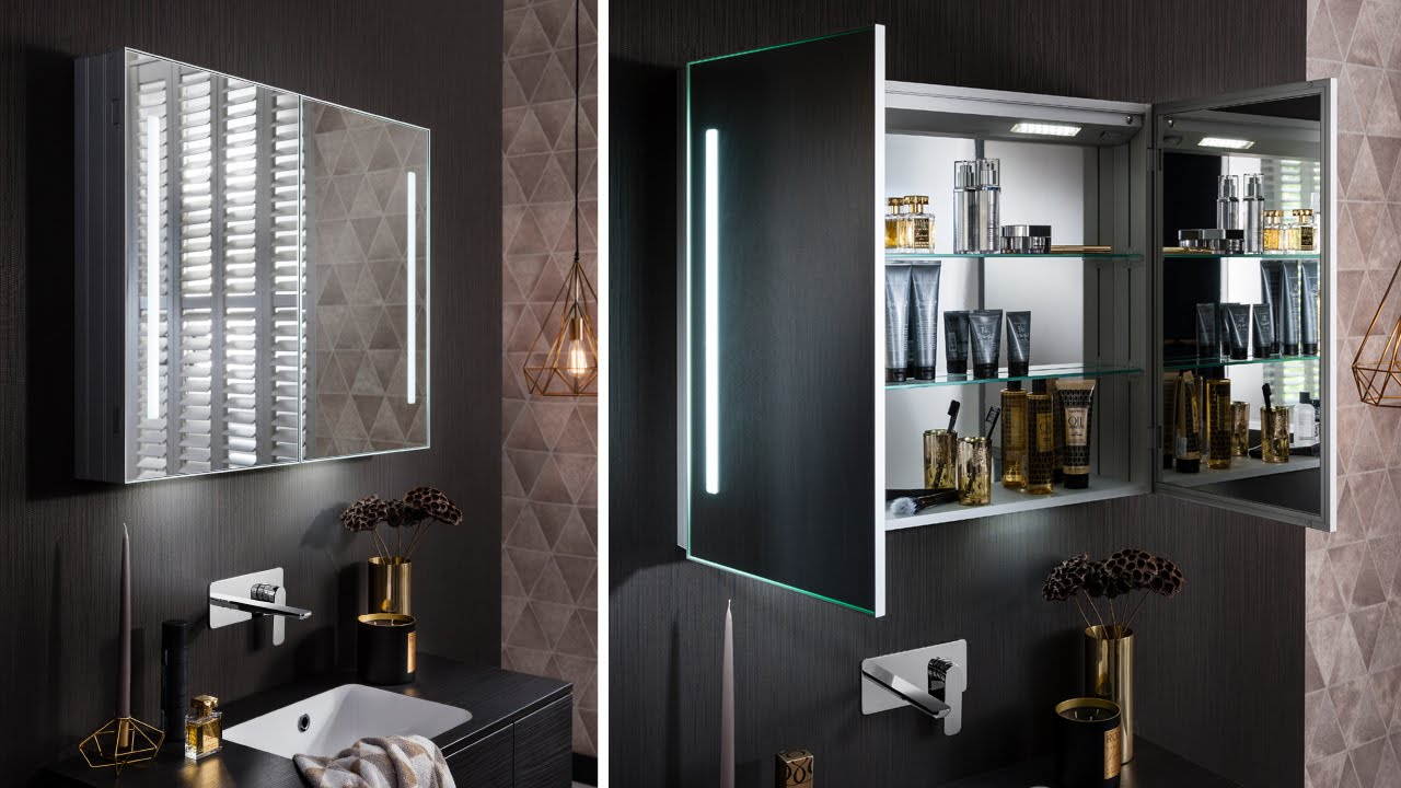 Allure Mirrored Cabinets   Www.crosswater.co.uk   YouTube