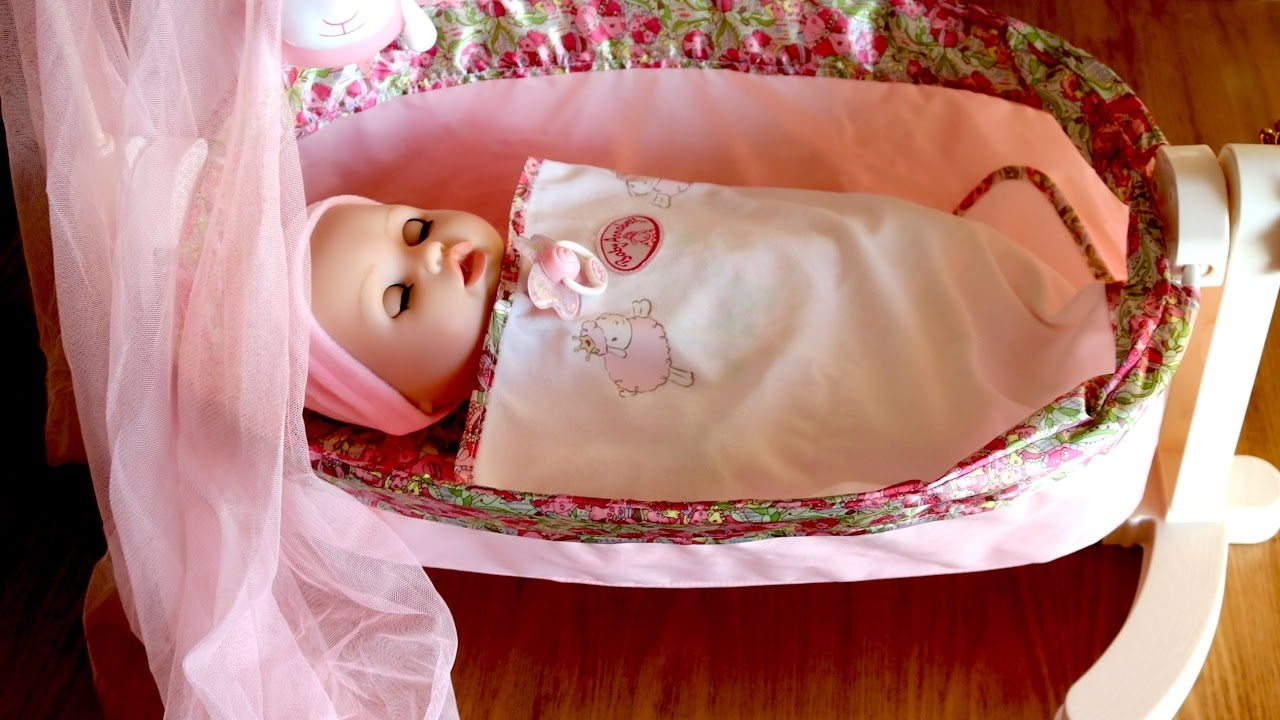 Baby Annabell Rocking Cradle Baby Dolls Bed Time Lullaby ...