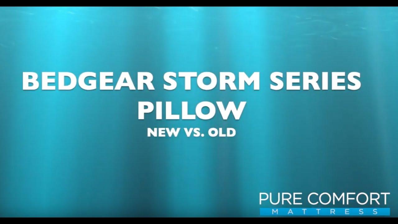storm 0 0 performance pillows mist by bedgear