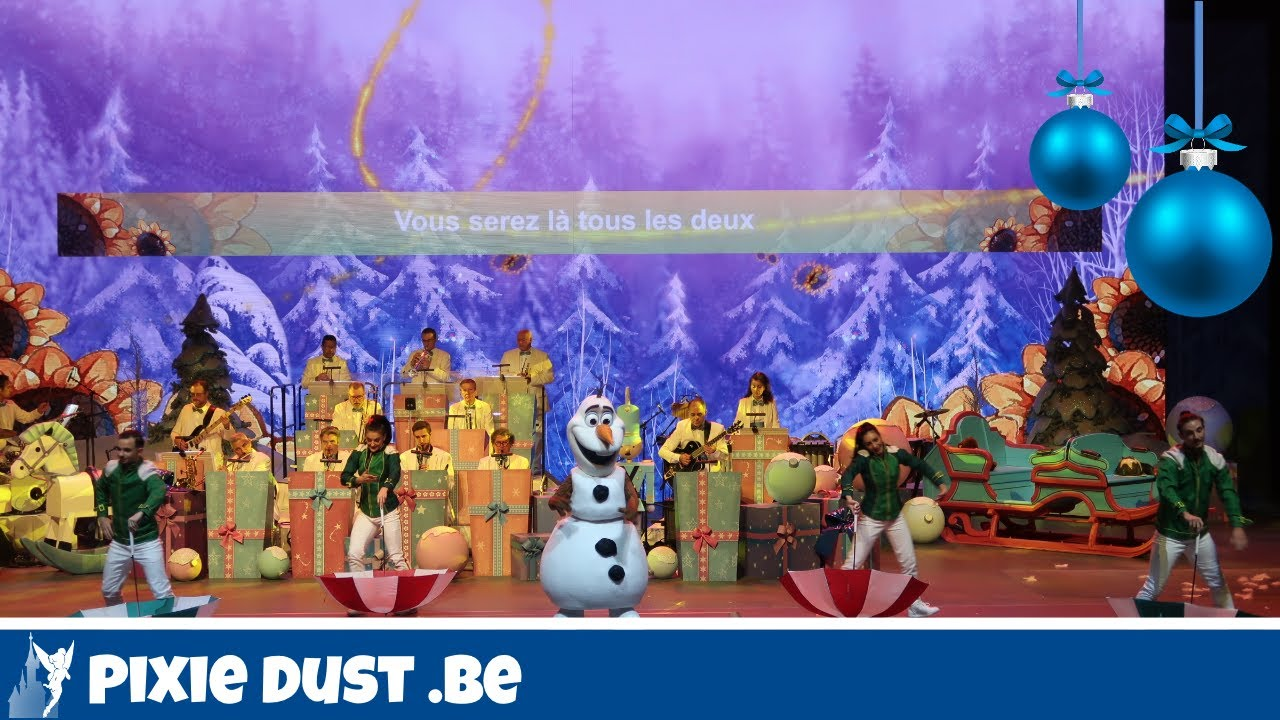 🎄FULL SHOW Merry Jolly Jingles with Olaf from Frozen in Disneyland ...