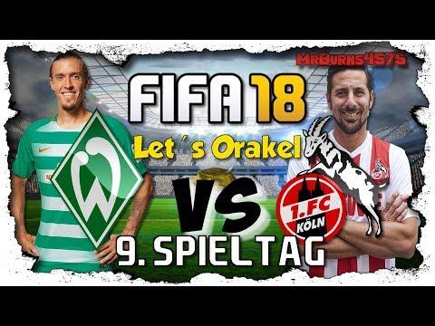 Werder Bremen vs. 1.FC Köln ⚽ 9.Spieltag ⚽ Let's Orakel FIFA 18 [Deutsch] [60FPS]
