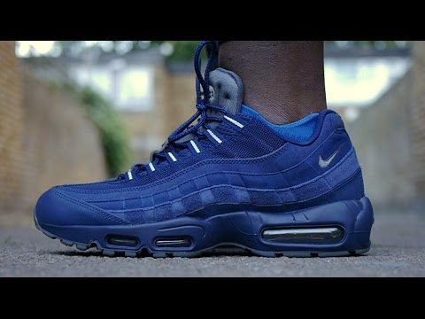 99120afe526f5 Air Max 95 Essential Overview & On Feet (JD Exclusive Blue) - YouTube