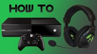 easiest way to set up a headset on xbox one turtle beach x12