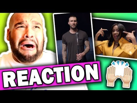Maroon 5 ft Cardi B - Girls Like You   REACTION