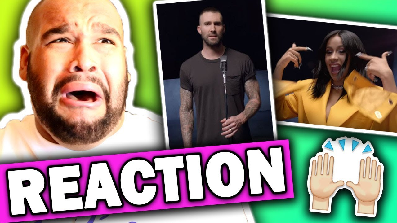 Maroon 5 ft. Cardi B - Girls Like You (Music Video) REACTION #1