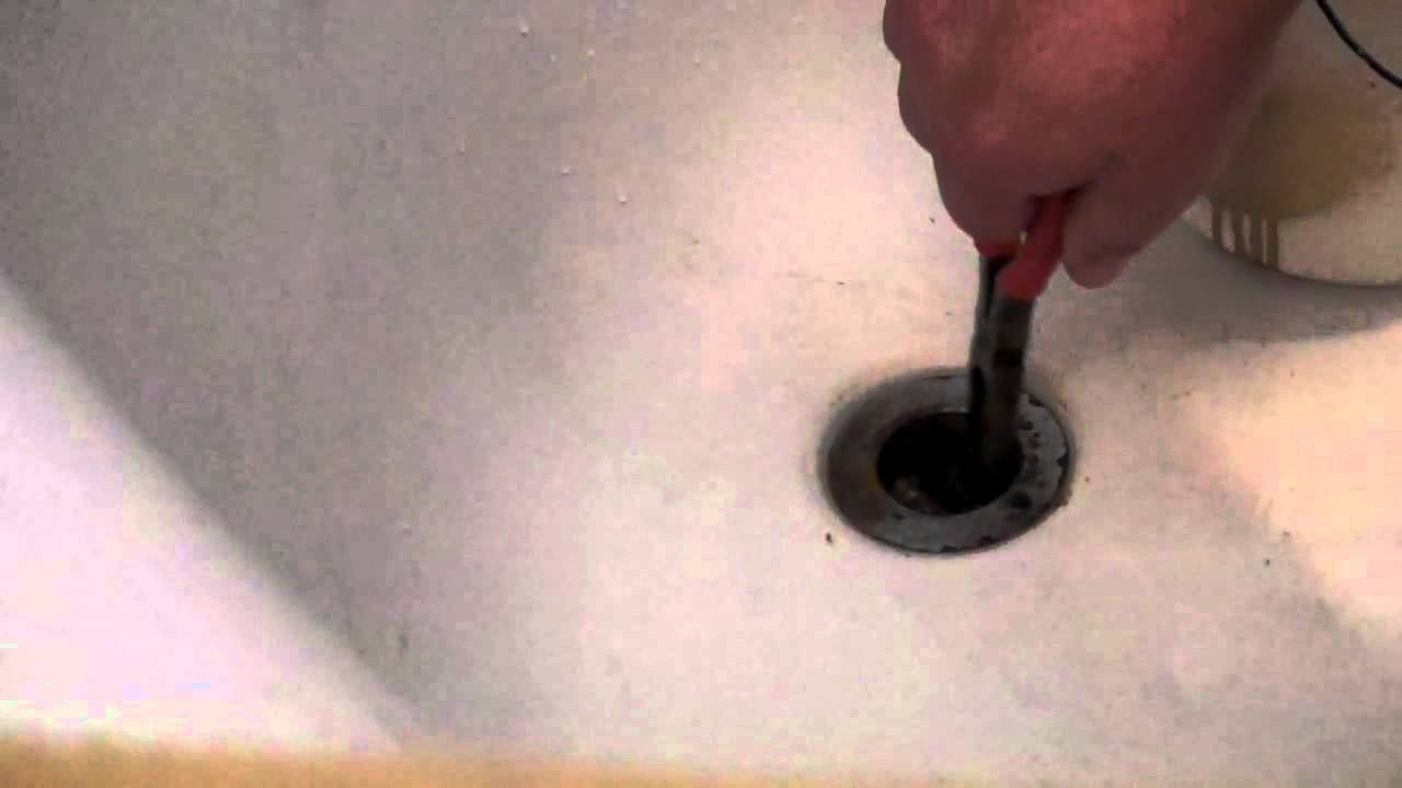 how to unclog a bathtub drain very easy you can do it youtube. Black Bedroom Furniture Sets. Home Design Ideas