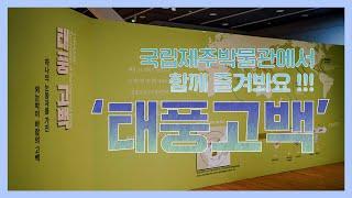 국립제주박물관에서 열리는 전시회 '태풍고백' [국립제주…