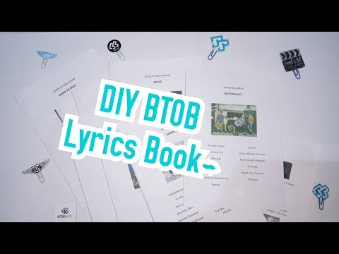 DIY KPOP 비투비 BTOB lyrics books ~