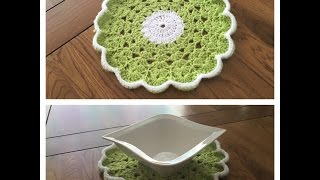How to crochet round table mat