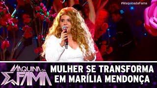 Mulher se transforma em Marília Mendonça | Máquina da Fama (07/08/17)