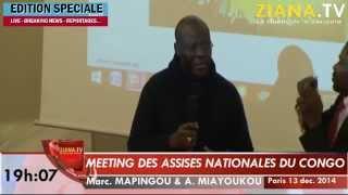 Meeting de Paris. Interventions de Marc Mapingou et Alexis Richard Miayoukou