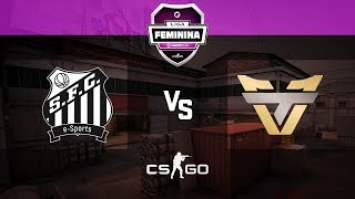 Liga Feminina Gamers Club (Final) - SANTOS vs Team oNe RED (M2 Cache)