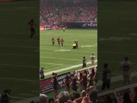 """BC Lion Marcell Young taking out """"streaker"""""""