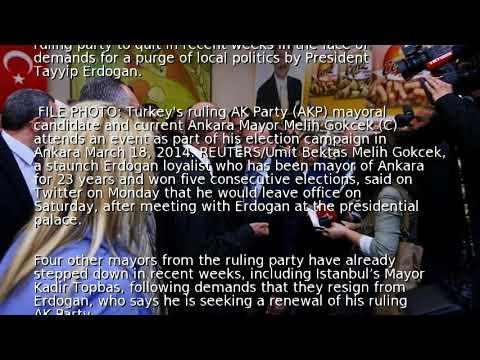 Ankara mayor quits in Erdogan purge of local government