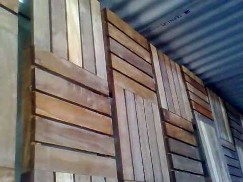 Celos a de madera desmontable oficina factotum19m99 youtube for Celosia madera jardin