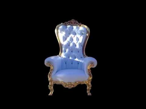 Kids Crown Baby Shower Throne Chair For Parties And Events Youtube