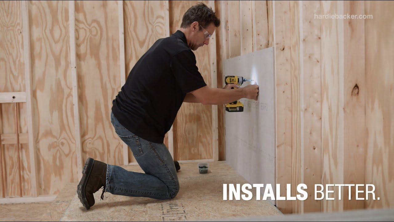 HardieBacker® Cement Board – Installs Better - YouTube