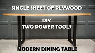 Baixar Modern Dining Table DIY | Single Sheet Plywood | Two Power Tools