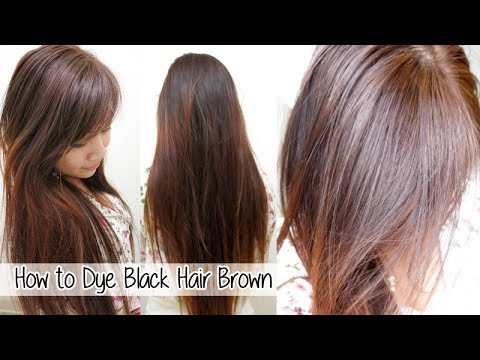 How to Dye Hair from Black to Brown Without Bleach l Loreal ...