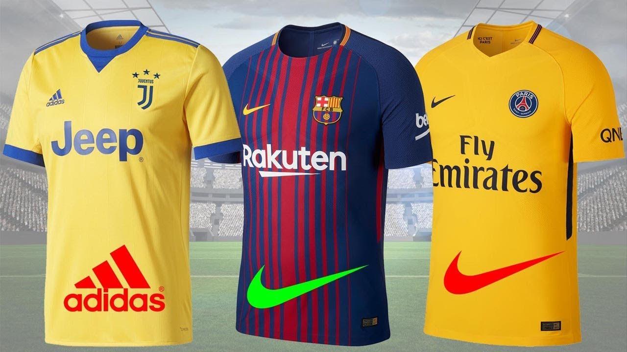 Mẫu áo sân khách và sân nhà của các câu lạc bộ bóng đá nổi tiếng nhất thế giới mùa giải mới 2017/18