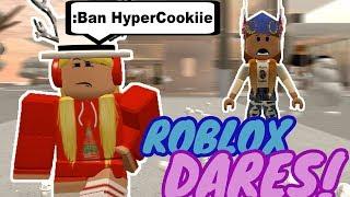 ROBLOX DARES!!!!!!! PARTE 1 (HyperCookiie)