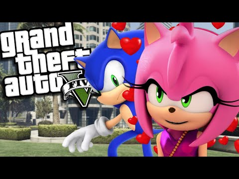 SONIC THE HEDGEHOG Marries AMY ROSE MOD (GTA 5 PC Mods Gameplay)
