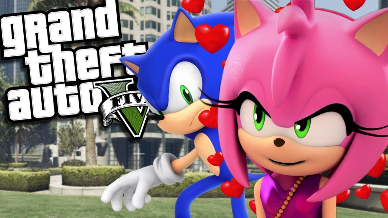 Sonic The Hedgehog Marries Amy Rose Mod Gta 5 Pc Mods Gameplay Youtube