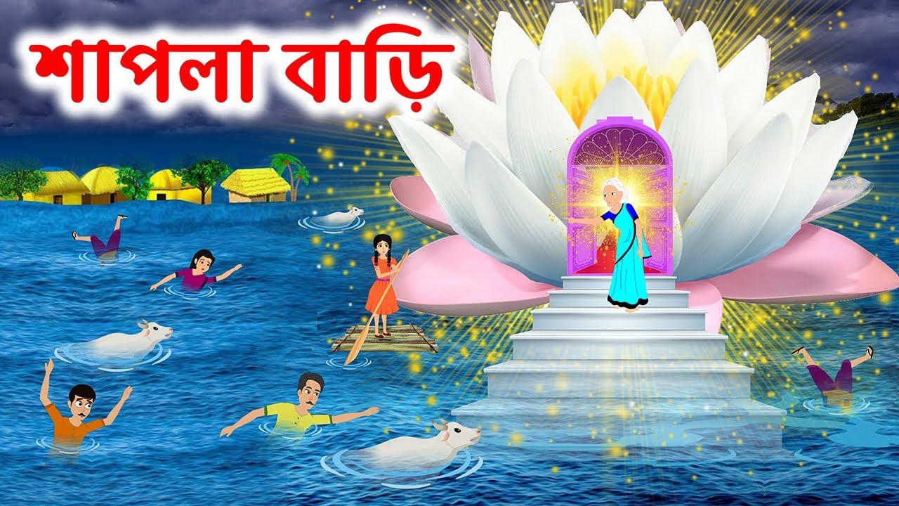 শাপলা বাড়ি   Waterlily House   Bangla Cartoon Golpo   Bengali Morel Sad Stories   Brain Games ধাঁধা