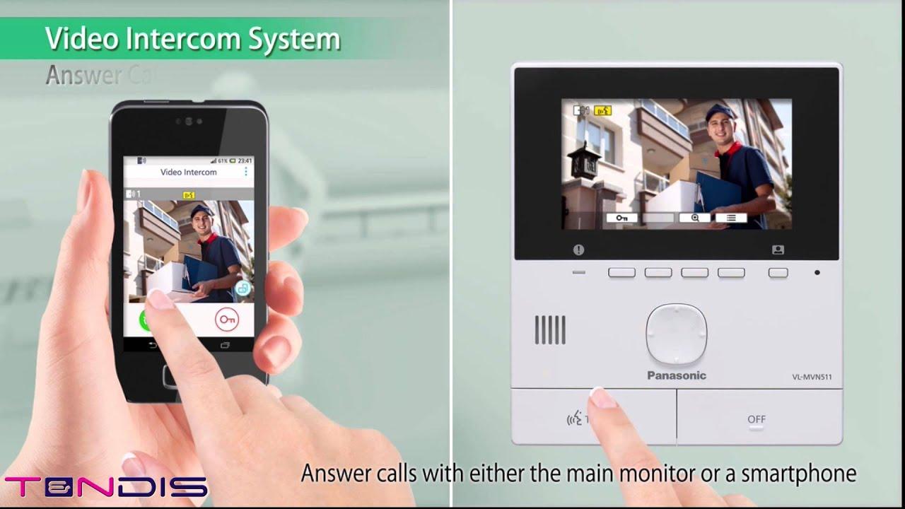 Panasonic VL SVN511EX Wifi Intercom Demo - YouTube