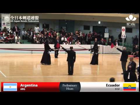 (ARG)Argentina (5)2 - 3(5) Ecuador(ECU) - 16th World Kendo Championships - Men's Team