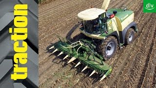 Krone BiG X 630 & BiG X 770 in der traction-Arbeitsprobe