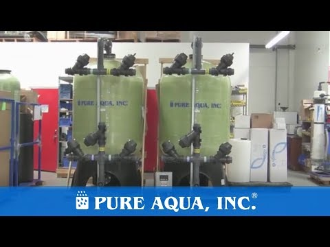 Seawater Multimedia Filters Mexico, 2 x 50 GPM | www.PureAqua.com