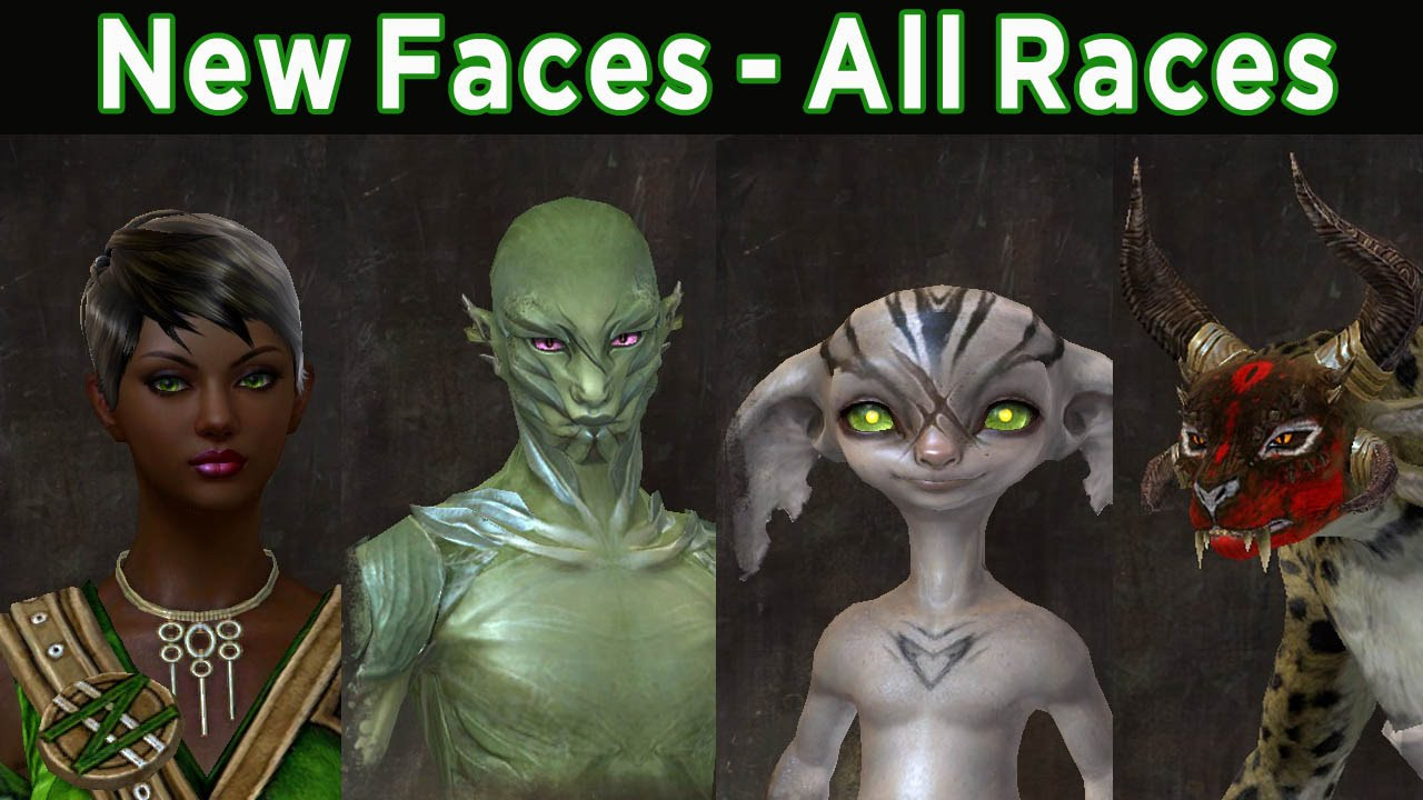 New Face Options All Races Male Female Guild Wars 2 Youtube
