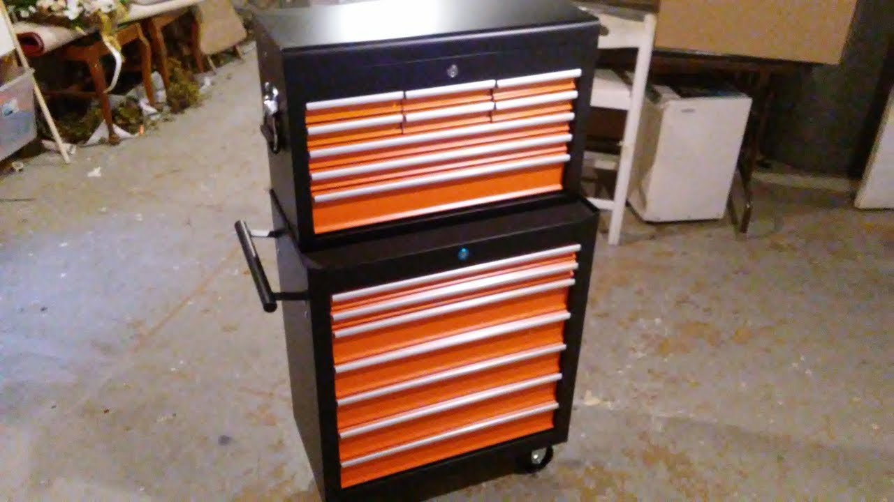 Amazon 16 Drawers Tool Chest Review - Shop Tool Cart - YouTube