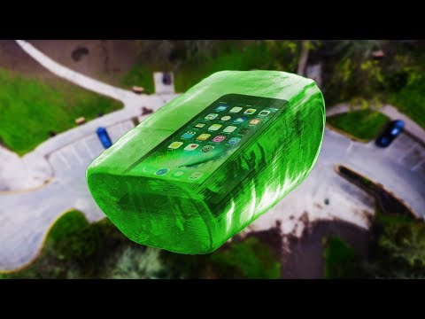 Thumbnail: Can World's Largest Jolly Rancher Protect iPhone 7 from 100 FT Drop Test? - GizmoSlip