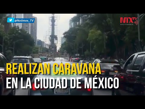 #Frente Nacional Ciudadano realiza caravana para exigir renuncia de #AMLO