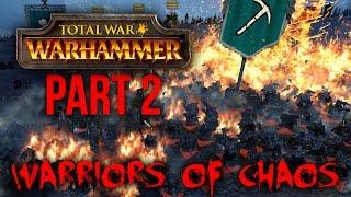 Total War Warhammer CHAOS Gameplay Walkthrough Part 2 - MASSIVE BATTLE (CHAOS CAMPAIGN)
