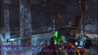 playing all call of duty zombies that i own.
