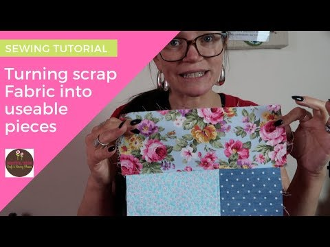 Using up your fabric Scraps | Crazy Patchwork with french seams | SEWING TUTORIAL