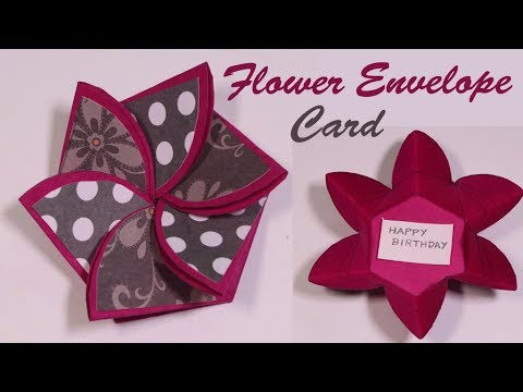 Flower Envelop Card TUTORIAL How To Scrapbooking Cards